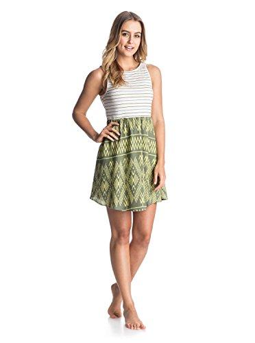 Roxy Juniors South Side Tank Woven Dress, Cypress Ikat Threads Pattern, Small