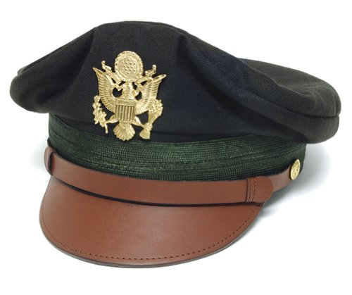 WWII U.S. Army Officer's Crush Cap Green - 7-3/4""