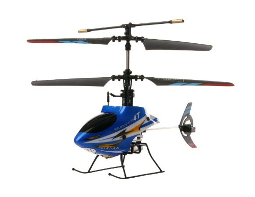 4-Channel Remote Control Mini Helicopter with Gyroscope (Blue)