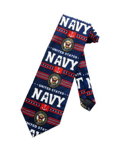 Steven Harris Mens United States Usa Navy Necktie - Navy Blue - One Size Neck Tie