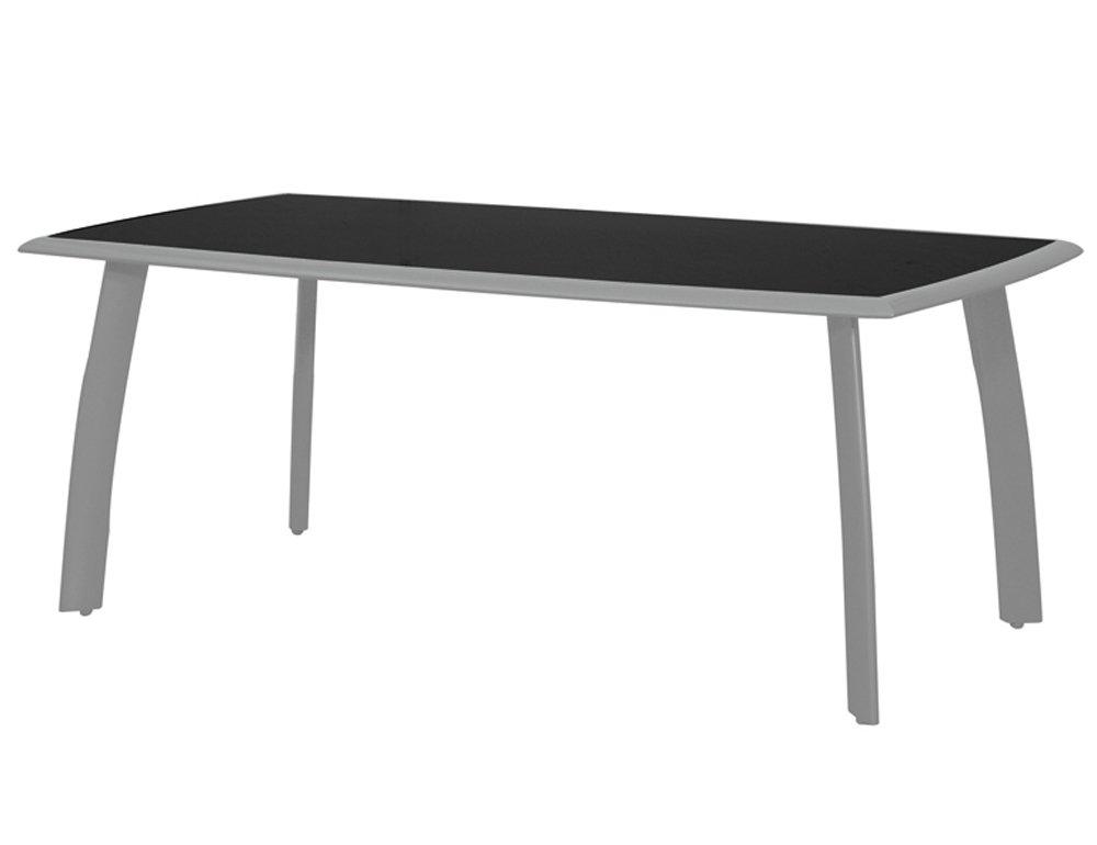 Siena Garden 431264 Tisch Delano,silber Glasplatte schwarz, L 180 x B 100 x H 74 cm günstig kaufen