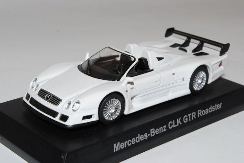 Mercedes-Benz AMG CLK GTR Roadster Weiss 2002 1/64 Kyosho Sonderangebot Modell Auto
