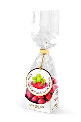 Chocolate Garden Rosinen und Erdbeeren in Schokolade, 4er Pack (4 x 100 g)