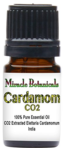 Miracle Botanicals CO2 Extracted Cardamom Essential Oil - 100% Pure Elettaria Cardamomum - Therapeutic Grade - 5ml