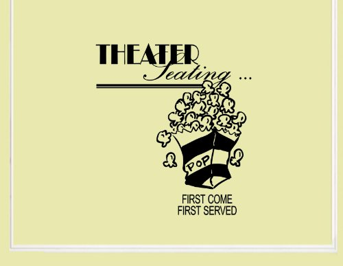 Theater Seating Vinyl Wall Quotes Stickers Sayings Home Art Decor Decal