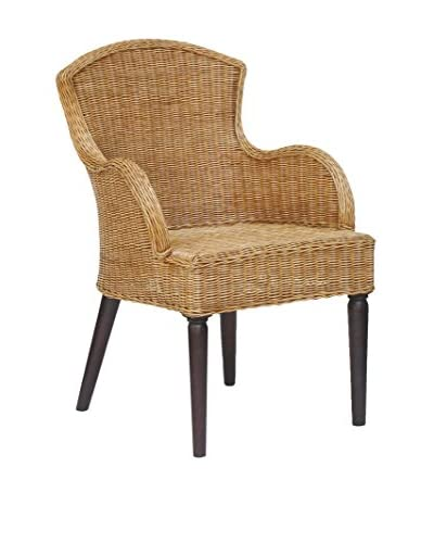 Jeffan Brockton Side Chair, Natural/Dark Brown