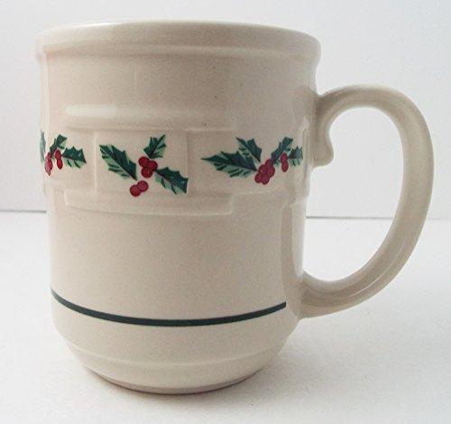 longaberger-pottery-coffee-tea-mug-cup-christmas-holiday-holly-berry