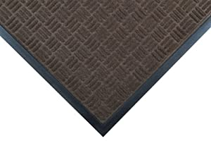 "Notrax 167 Portrait Entrance Mat, for Lobbies and Indoor Entranceways, 2' Width x 3' Length x 1/4"" Thickness, Brown"