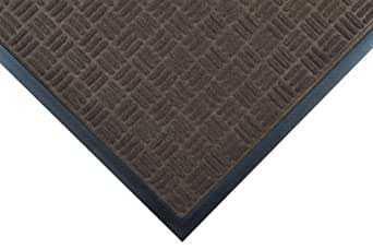 """Notrax 167 Portrait Entrance Mat, for Lobbies and Indoor Entranceways, 3' Width x 5' Length x 1/4"""" Thickness, Brown"""