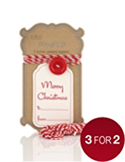 Large Button Present Toppers with Gift Tags