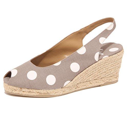 3415P sandalo donna CASTANER tortora/bianco shoe sandal woman [39]