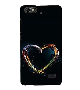 printtech Colored Heart art Back Case Cover for Huawei Honor 4C::Huawei G Play Mini
