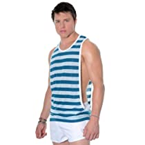 Tide Gym Tank, Teal Stripe, X-Large