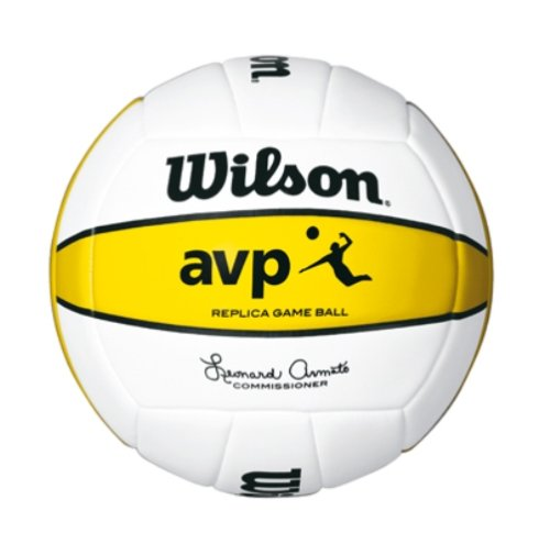 Wilson AVP Replica Beach VolleyBall - White/Yellow