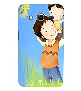 Printvisa Father Daughter In A Field Back Case Cover for Samsung Galaxy Core Prime G360