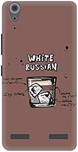 The Racoon Grip Kahlua White Russian hard plastic printed back case / cover for Lenovo A6000