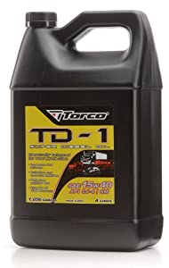 Torco A181540F TD-1 MPZ 15w40 Super Diesel Motor Oil Bottle - 1 Liter Bottle, (Case of 6)