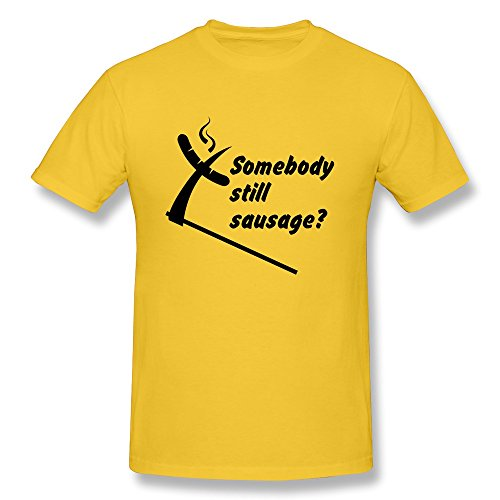Somebody Still Sausage Men Fitted Geeks T-Shirts - Ultra Cotton front-900754