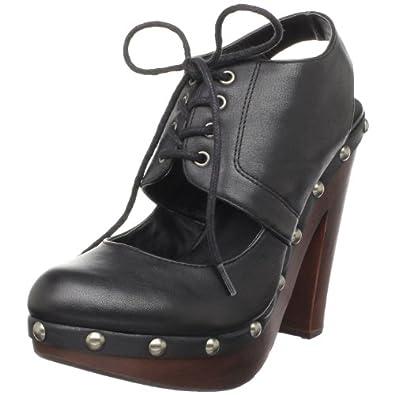 Steve Madden Women's Empiire Clog,Black Leather,8 M US