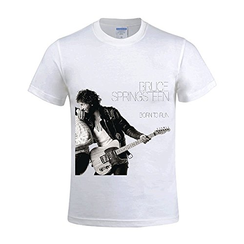 Bruce Springsteen Born To Run Men Shirt Crew Neck Music White (Pinky Pie Adult Shirt compare prices)