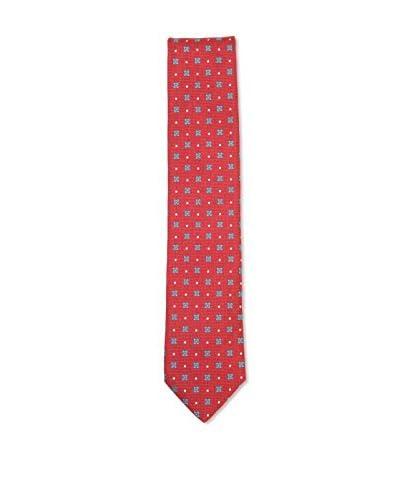 Ermenegildo Zegna Men's Flower Silk Tie, Red