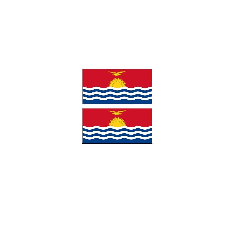 2 Kiribati Flag Stickers Decal Bumper Window Laptop Phone Auto Boat Wall