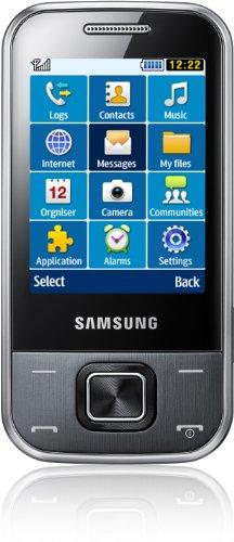 Samsung Samsung C3750 Handy (6,1 cm (2,4 Zoll) Display, MP3, 3 MP Kamera, Bluetooth) metallic grau