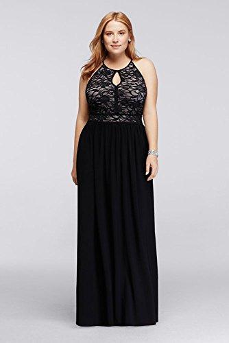 2ecfde9ef8b Lace Keyhole Halter Neckline Dress Style 21348DW