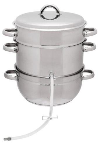 VICTORIO VKP1140 Stainless Steel Multi-Use Steam Juicer, 8 Quart Back To Basics Steam Juicer