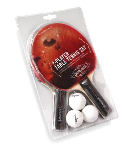 Read About Brunswick 2 Paddle Set with 3 Ball Table Tennis Set