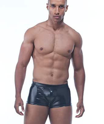 Adam Glossy Black Tight & Smooth Boxer Shorts