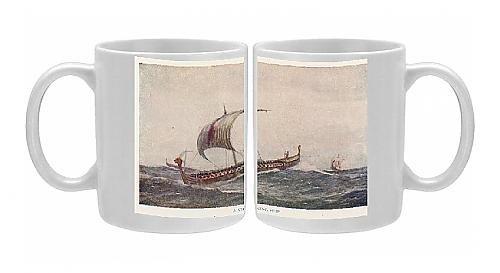 Photo Mug Of Viking Ships From Mary Evans