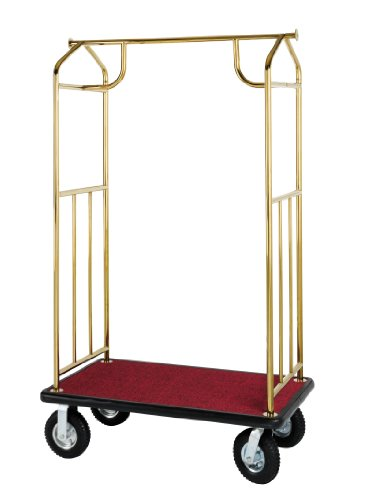 Value Valet Bellman's Cart- Brass Plated Finish (Wholesale Hotel Products compare prices)