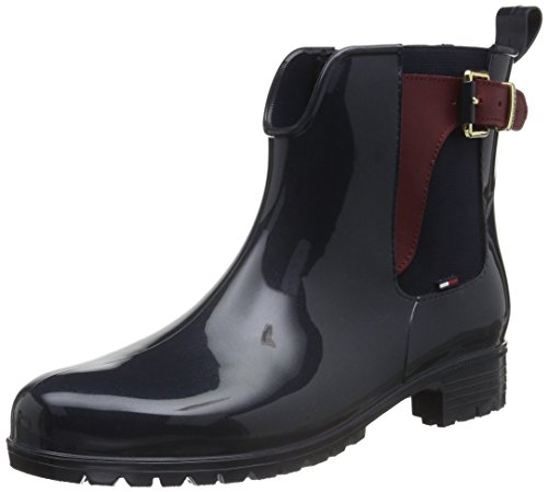 Tommy-Hilfiger-OXLEY-2Z-Damen-Kurzschaft-Gummistiefel-Blau-MIDNIGHT-403-41-EU