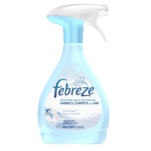 Febreze Fabric Refresher, Linen & Sky, 27-Ounce (800 mL) Bottles (Pack of 6)