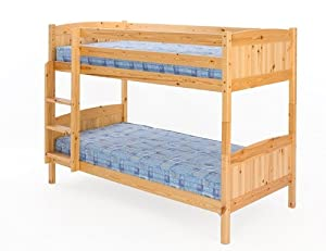 3ft (90cm) Christopher Pine Bunk Bed in a Natural Varnish       reviews