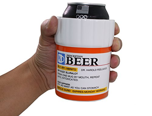 Prescription Designed Drink Cooler Insulated Ceramics Beer Can Cooler Holder / Insulator (Beer Can Coffee Mug compare prices)