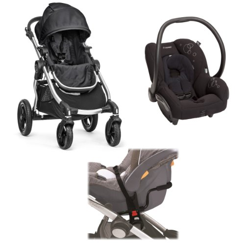 Baby Jogger City Select Stroller With Maxi-Cosi Ap Car Seat Travel System, Onyx front-714259