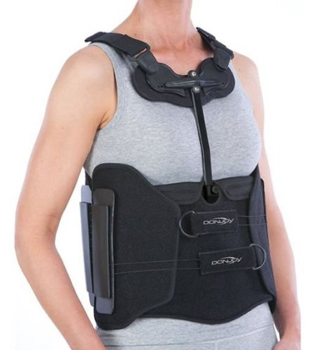 Donjoy BOA Duel TLSO Back Brace Support Belt Following Spinal Surgery Immobolisation Prevents Bending Forward - Treatment Rehab of Lower Back Injuries like Herniated Disc Sciatica Facet Syndrome