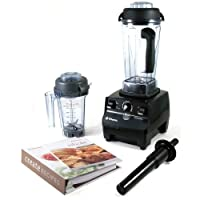 Vitamix CIA Professional Series 64 Ounce Onyx Blender with Eastman Tritan Container, Dry Blade, and 2 Cookbooks from Vitamix
