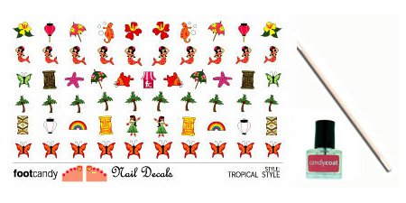 Footcandy Nail Decal Kit Tropical Style