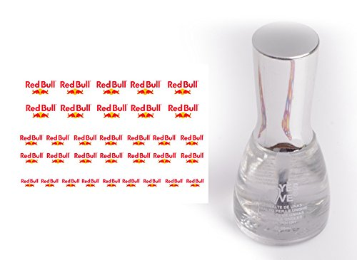 Nail Art Transfer Sticker with Nagellack Redbull