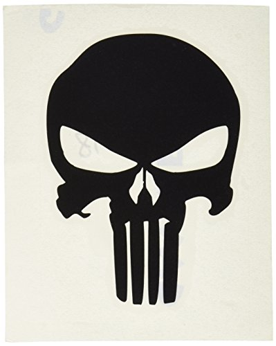 C&D Visionary Punisher Skull 4 Rub-On Black