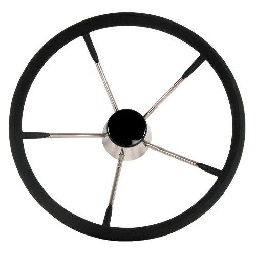 "Whitecap WHITECAP DESTROYER STEERING WHEEL BLACK FOAM 15"" DIAMETER"