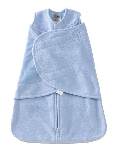 Halo Innovations Sleepsack Swaddle Micro Fleece, Baby Blue, Small