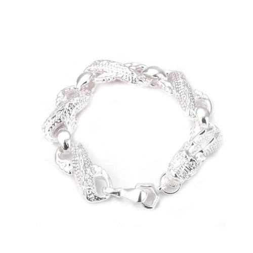 DUMAN Silver Plated Fashion Bracelet Jewelry Man China Dragon Link Chain Bracelet