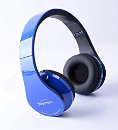 Beyution royalblue-513 Bluetooth HiFi Stereo Headphones Built in Mic, Retail Package - Royalblue