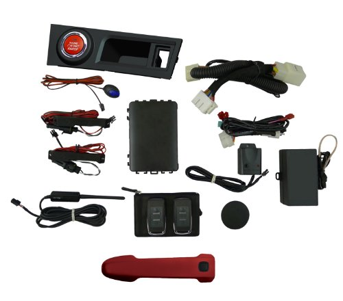 EasyGO AM-FRS-C7P Smart Key Remote Start and Alarm System with Firestorm Driver's Door Handle for Scion FR-S