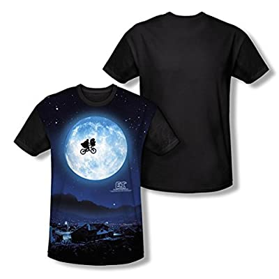 E.T. Extra Terrestrial Moon All Over Print Black Back T-Shirt