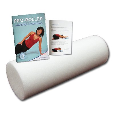 45cm Foam Roller and Massage Essentials Exercise Book